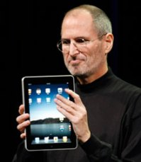 Apple CEO Steve Jobs reveals the iPad