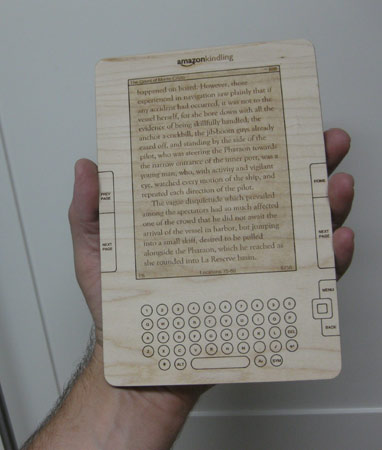 Wooden Kindle